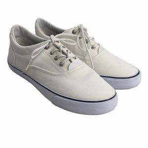 Bass Navigate Lace Up Sneakers White Size 8